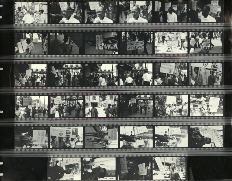 Tenants Rights Protest, Old Town Gardens, contact sheet
